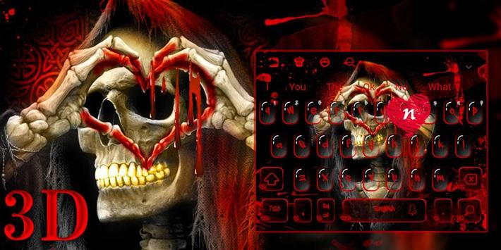 ... 3D Red Blood Skull Live Wallpaper Keyboard Theme screenshot 3