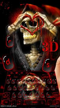 3D Red Blood Skull Live Wallpaper Keyboard Theme