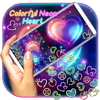 Colorful Neon Heart Gravity Keyboard icon