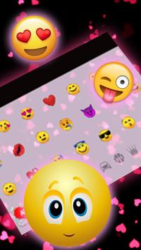 Live Red Glitter Heart Keyboard Theme screenshot 2