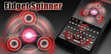 Fidget Spinner Captain Red Keyboard Theme