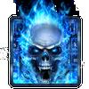 Feu bleu Crâne Clavier icône