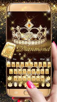 Gold diamond crown Keyboard Theme screenshot 3