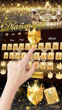 Gold diamond crown Keyboard Theme screenshot 2