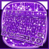 Sparkling Glitter Moon Keyboard Theme icon