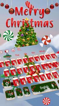 Merry Christmas Keyboard Theme poster