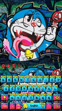 Graffiti Blue Cat keyboard screenshot 3
