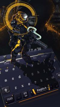 Black Technology AI Combat Police keyboard theme poster