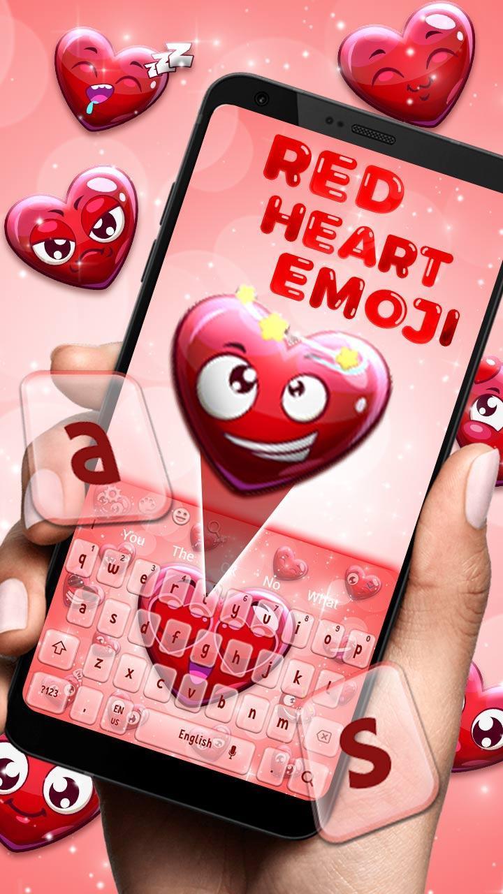 Clavier Emoji Coeur Rouge Amour Pour Android Telechargez L Apk