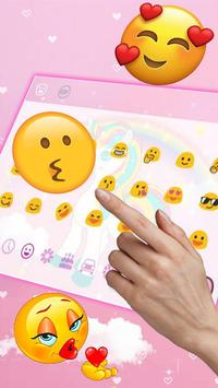Cute Pink Animated Unicorn Keyboard screenshot 1