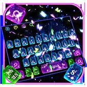 Glossy Twinkling Butterfly Keyboard icon