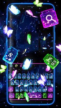 Glossy Twinkling Butterfly Keyboard poster