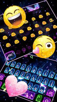 Glossy Twinkling Butterfly Keyboard screenshot 2