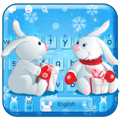 Bunny Celebrates Christmas Keyboard icon