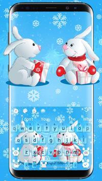 Bunny Celebrates Christmas Keyboard poster