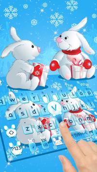 Bunny Celebrates Christmas Keyboard screenshot 1