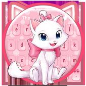 Adorable Girly Pink Kitty Keyboard Theme icon