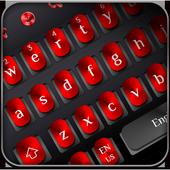 Cool Black Red Metal Keyboard icon