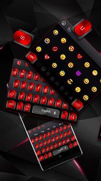 Cool Black Red Metal Keyboard poster