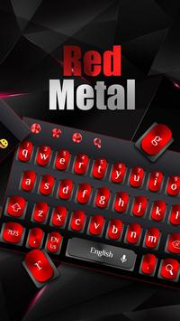 Cool Black Red Metal Keyboard screenshot 4