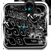 Creepy Zombie Skull Keyboard Theme icon