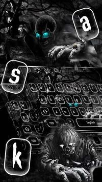 Creepy Zombie Skull Keyboard Theme poster