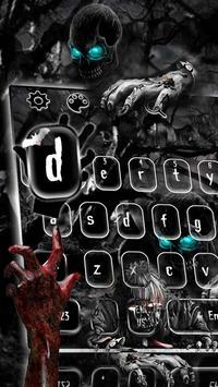 Creepy Zombie Skull Keyboard Theme screenshot 1