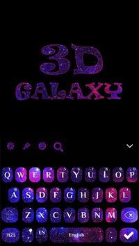 Galaxy 3D Keyboard theme screenshot 3