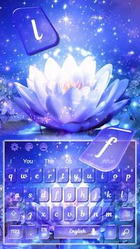 Glitter Lotus Keyboard Theme screenshot 3