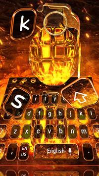 Cool Grenade Keyboard Theme captura de pantalla 3