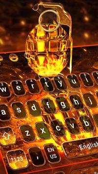 Cool Grenade Keyboard Theme Poster