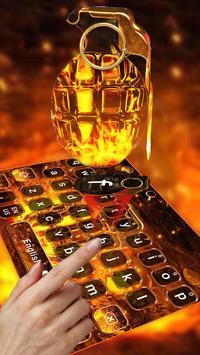 Cool Grenade Keyboard Theme Ekran Görüntüsü 1