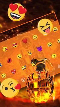 Cool Grenade Keyboard Theme captura de pantalla 2