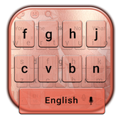 Simple Gold Rose Keyboard Theme icon