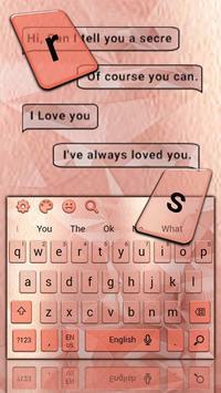 Simple Gold Rose Keyboard Theme screenshot 3