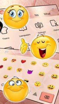 Simple Gold Rose Keyboard Theme screenshot 2