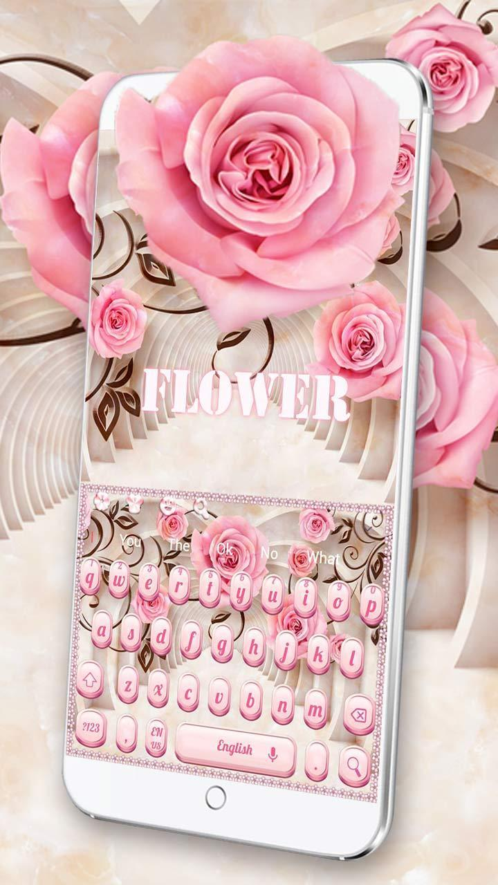 Pink Rose Flower Wallpaper Keyboard For Android APK Download