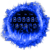 Blue Flaming Fire Keyboard Theme icon