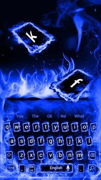 Blue Flaming Fire Keyboard Theme screenshot 3