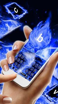 Blue Flaming Fire Keyboard Theme screenshot 1