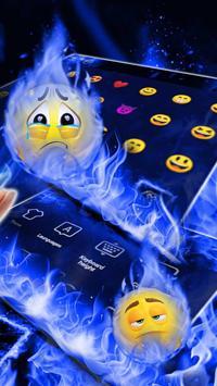 Blue Flaming Fire Keyboard Theme screenshot 2