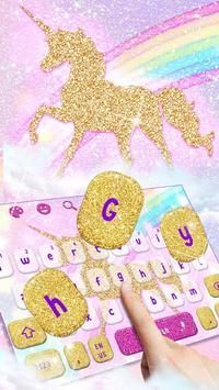 Glossy Glitter Dream Unicorn Keyboard screenshot 1