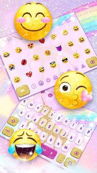 Glossy Glitter Dream Unicorn Keyboard screenshot 2
