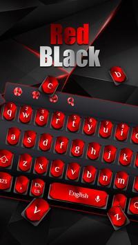 Cool Black Red Metal Keyboard screenshot 1