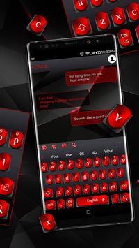 Cool Black Red Metal Keyboard screenshot 5