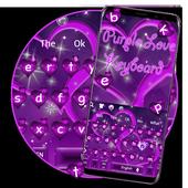 Cool Purple Love Keyboard Theme icon