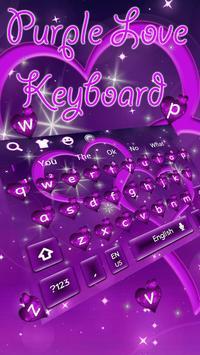 Cool Purple Love Keyboard Theme poster