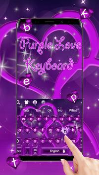 Cool Purple Love Keyboard Theme screenshot 1