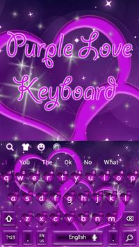 Cool Purple Love Keyboard Theme screenshot 4