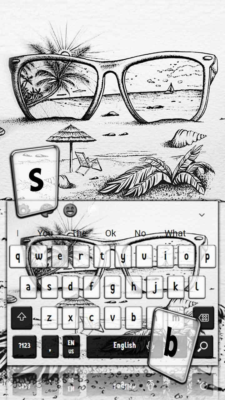 Simple Beach Sketch Keyboard Theme For Android Apk Download